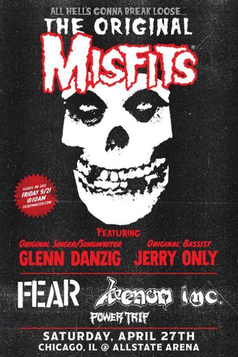 tour posters, misfits, misfits tour posters
