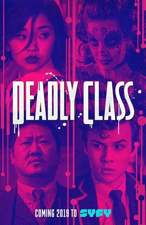 television posters, deadly class, syfy network, sony pictures television, promotional posters