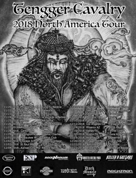 tour posters, tengger cavalry, tengger cavalry tour posters, napalm records artists