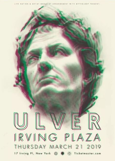 tour posters, ulver, ulver tour posters