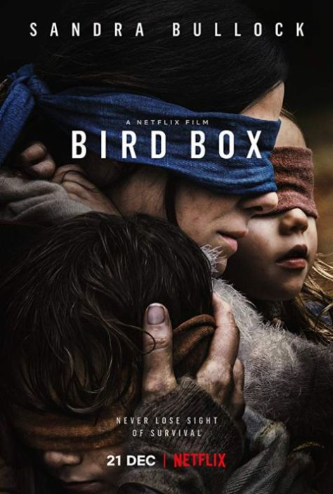movie posters, promotional posters, bird box, netflix