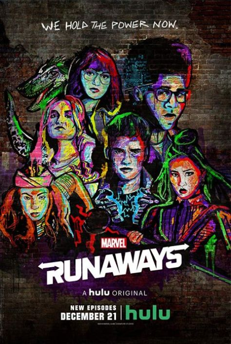 marvel television posters, runaways, television posters