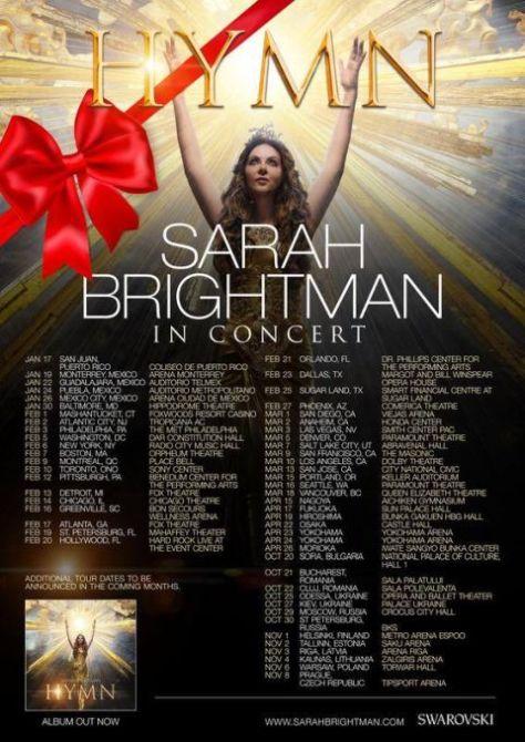 tour posters, sarah brightman, sarah brightman tour posters
