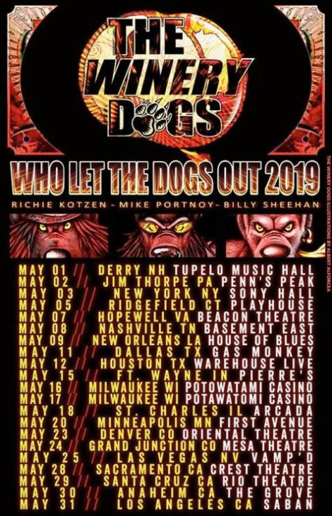 tour posters, winery dogs, winery dogs tour posters