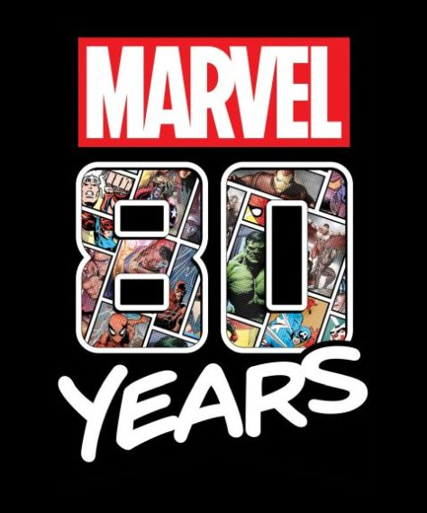 marvel 80th anniversary logo, marvel entertainment, #marvel80