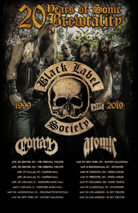 tour posters, black label society, black label society tour posters, entertainment one artists