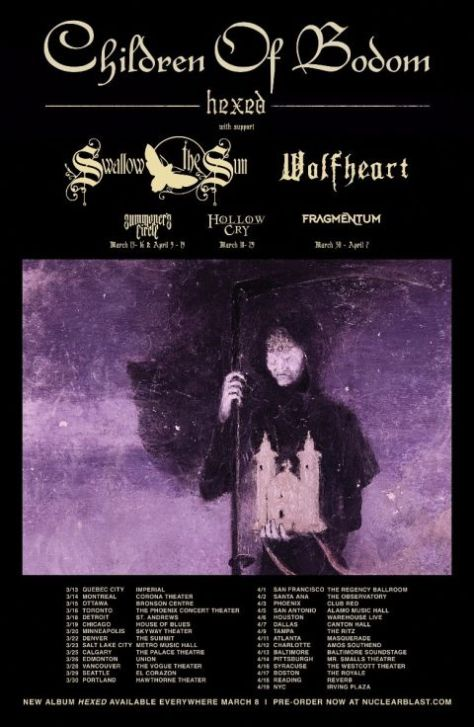 tour posters, children of bodom, children of bodom tour posters, nuclear blast records artists