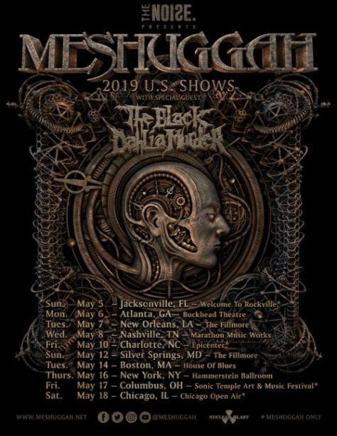 tour posters, meshuggah, meshuggah tour posters, nuclear blast records artists