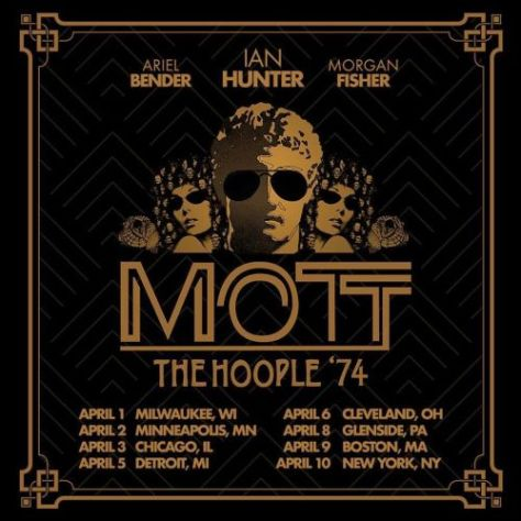 tour posters, mott the hoople, mott the hoople tour posters