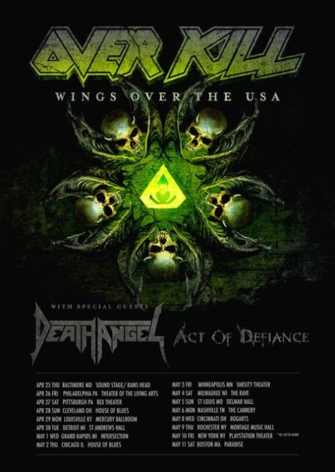 tour posters, overkill, overkill tour posters, nuclear blast records artists