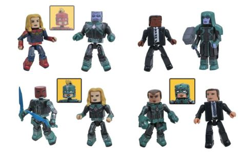 diamond select toys, captain marvel minimates, action figures
