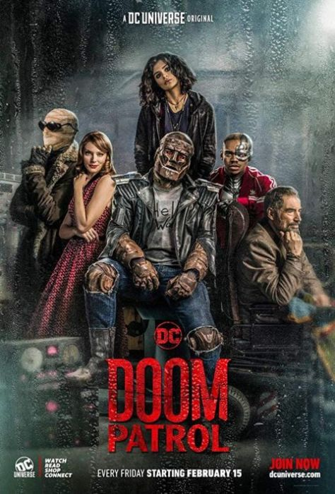 television posters, warner brothers television, dc universe, doom patrol