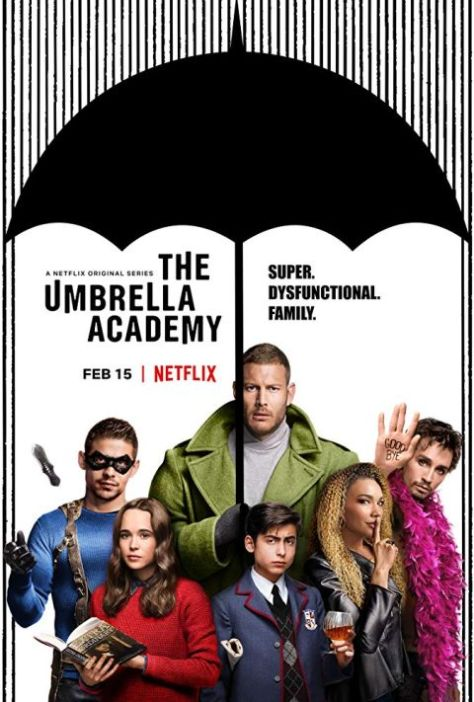 television posters, promotional posters, netflix, dark horse entertainment, the umbrella academy