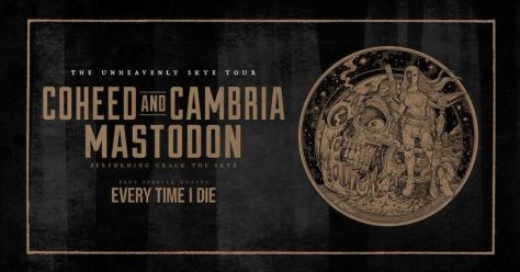 tour poster, mastodon, coheed and cambria, the unheavenly skye tour