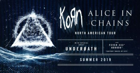 tour posters, korn, alice in chains, korn tour posters, alice in chains tour posters