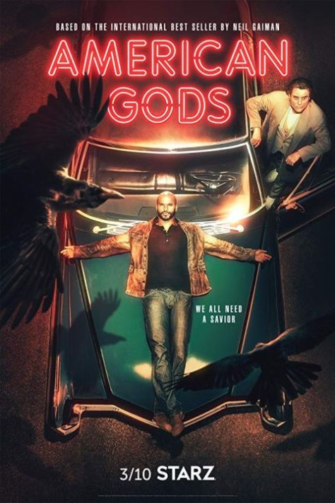 television posters, starz, american gods