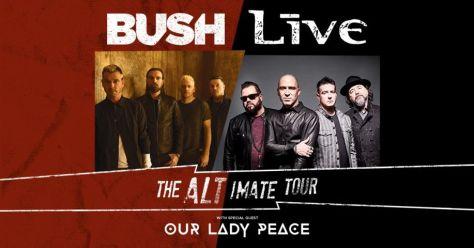 tour posters, bush, live, the alt-imate tour