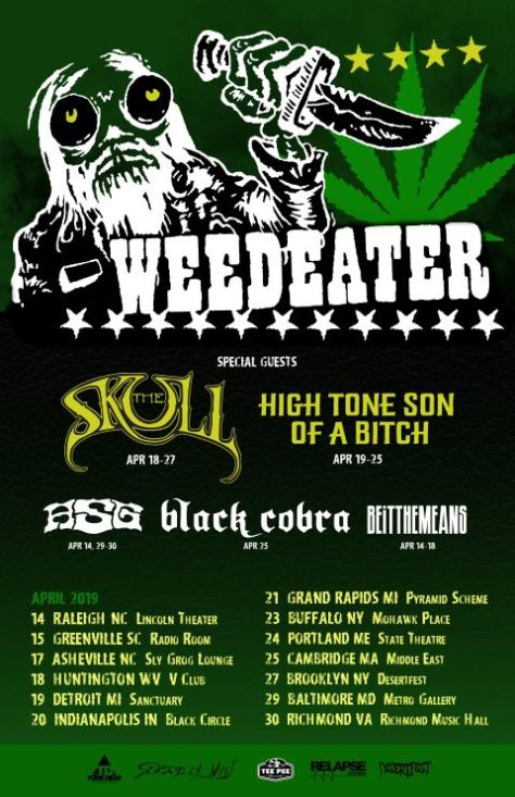 tour posters, weedeater, weedeater tour posters