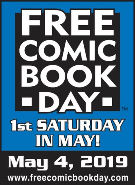 free comic book day 2019 logo, free comic book day