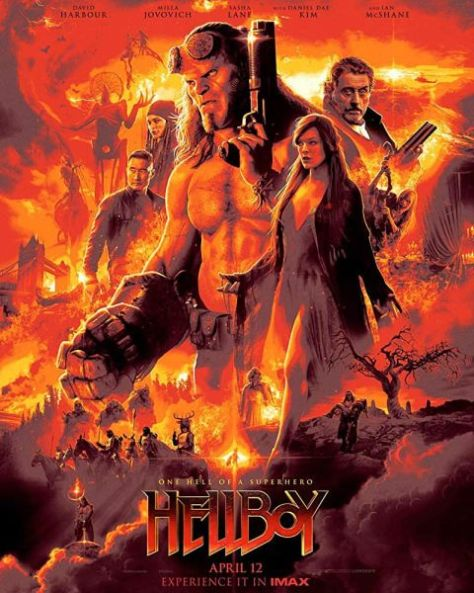 movie posters, promotional posters, lionsgate, hellboy