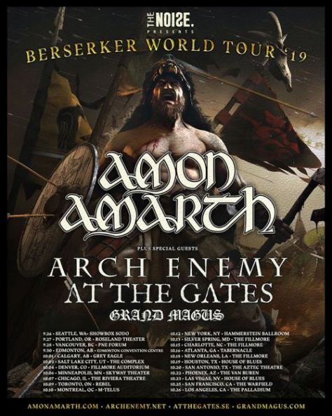 tour posters, metal blade records artists, amon amarth, amon amarth tour posters