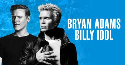 tour posters, billy idol, bryan adams