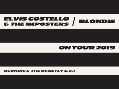 tour posters, elvis costello, blondie