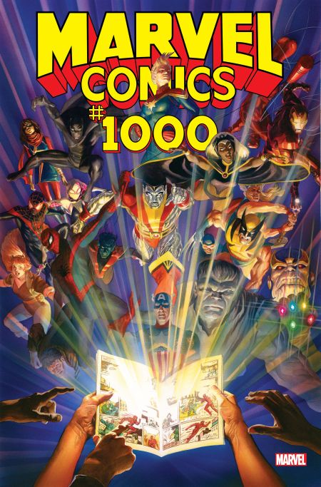 comic book covers, marvel comics, marvel comics 1000