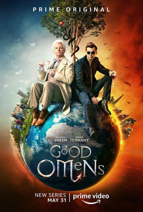 television posters, promotional posters, good omens, amazon prime video