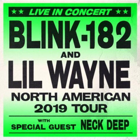 tour posters, blink 182, lil wayne