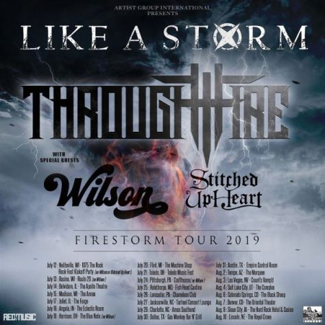 tour posters, like a storm, through fire