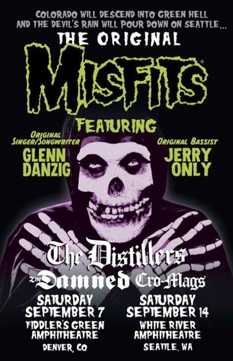 tour posters, original misfits, misfits