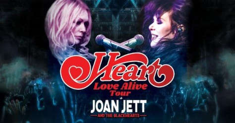 tour posters, heart, joan jett and the blackhearts