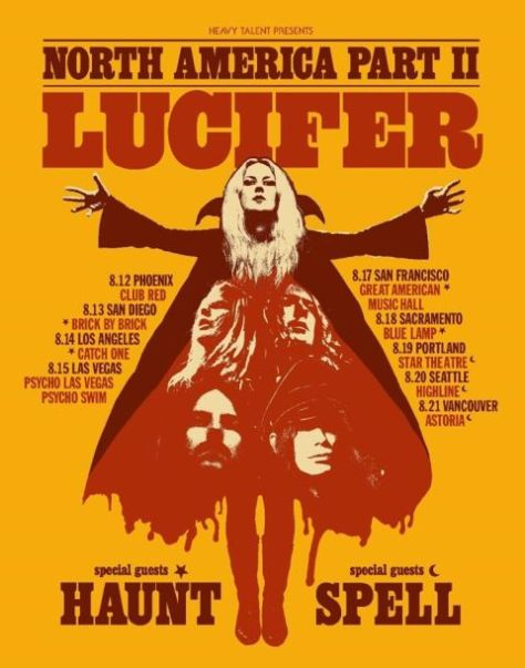 tour posters, century media records artists, lucifer, lucifer tour posters