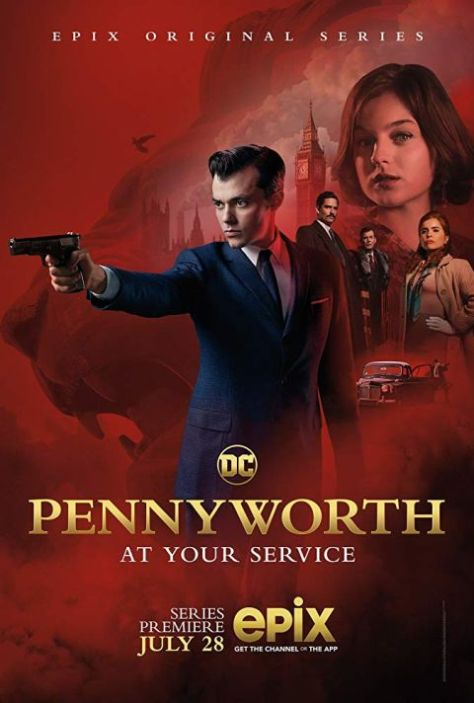 television posters, promotional posters, epix network, pennyworth, warner brothers television