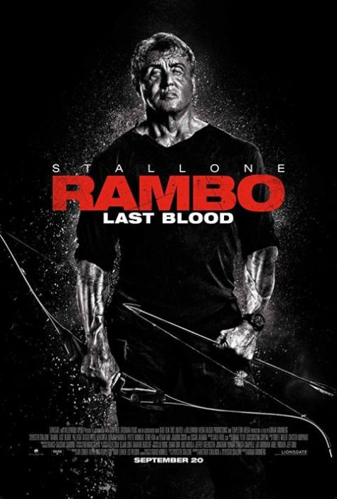 movie posters, promotional posters, rambo last blood, lionsgate films