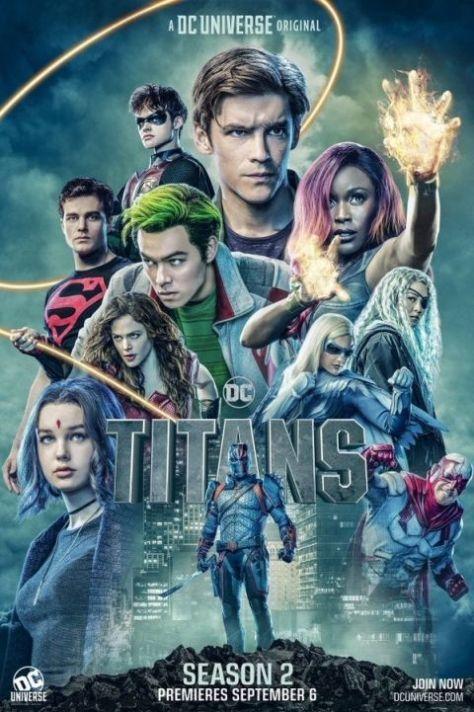 television posters, promotional posters, dc universe, titans, dc entertainment