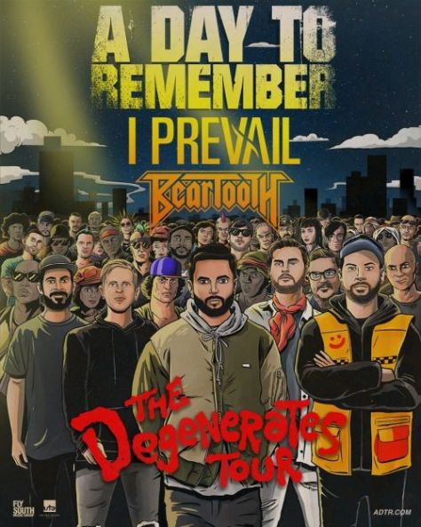 tour posters, a day to remember, a day to remember tour posters