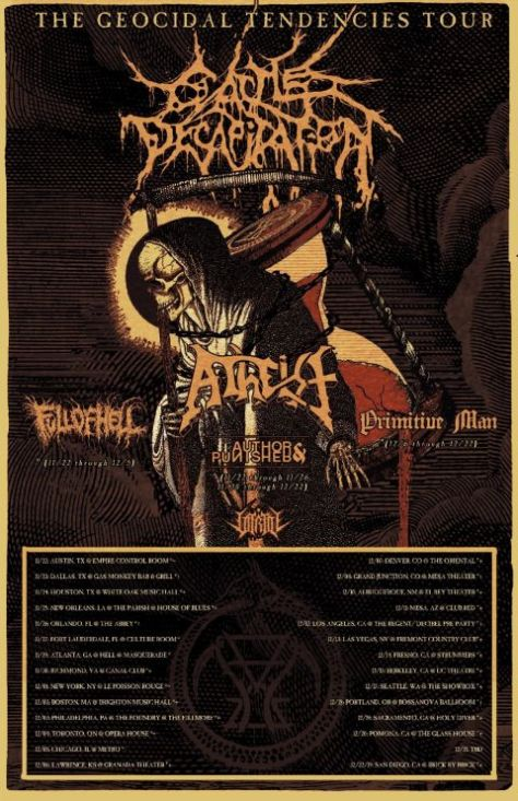 tour posters, metal blade records artists, cattle decapitation, cattle decapitation tour posters