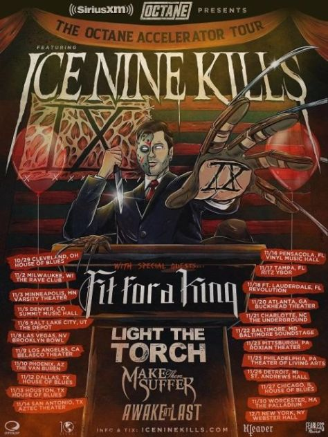 tour posters, ice nine kills, ice nine kills tour posters, siriusxm, fearless records artists