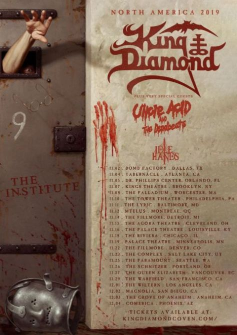 tour posters, king diamond, metal blade records artists, king diamond tour posters
