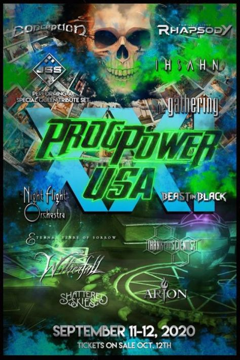 festival posters, progpower usa, progpower usa 2020