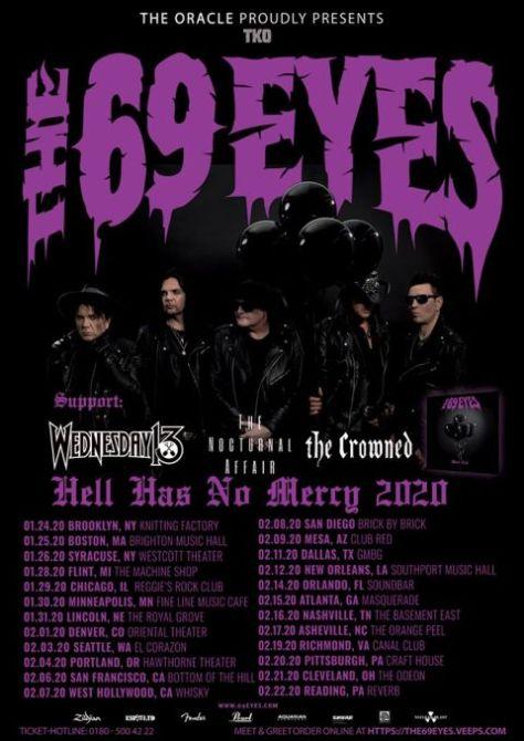 tour posters, the 69 eyes, the 69 eyes tour posters, nuclear blast records artists
