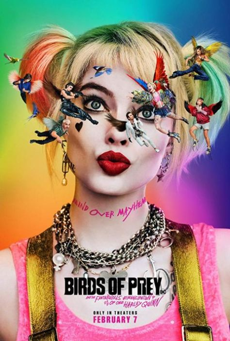 movie posters, promotional posters, warner brothers pictures, birds of prey