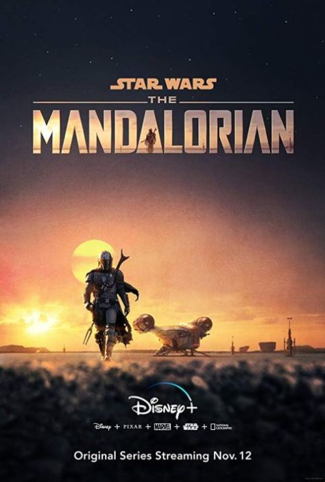 television posters, promotional posters, disney plus, the mandalorian