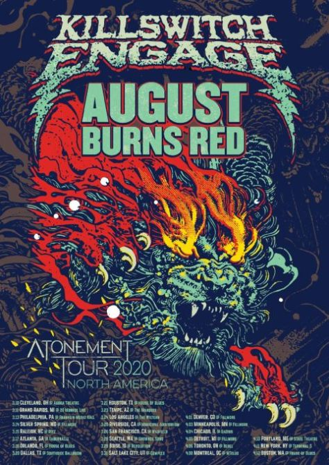 tour posters, killswitch engage, august burns red
