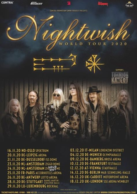 tour posters, nightwish, nightwish tour posters, nuclear blast records artists