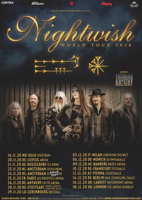 tour posters, nightwish, nightwish tour posters, nuclear blast records artists