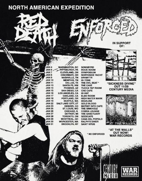 tour posters, red death, enforced, century media records artists