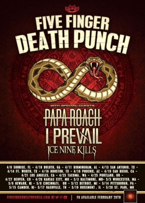 tour posters, five finger death punch, five finger death punch tour posters
